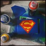 Superman stencil by Affion
