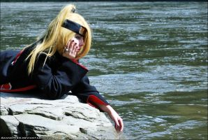 Bored: Deidara cosplay by AkaneHiro