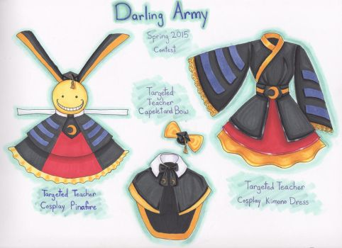 Darling Army Koro Sensei Cosplay Designs by emmyfluff83