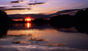 Sunset on Lums Pond by FauxHead