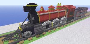 Minecraft train by Sethial