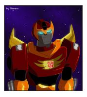 Rodimus the archer by draculinaxy