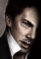 Digital Painting - Tribute to Benedict Cumberbatch by Mina-Burtonesque