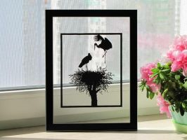 Home Nest Handmade Original Papercut by DreamPapercut