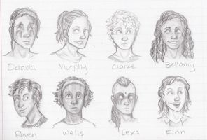 genderbent the 100? by theFischy