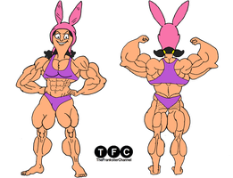 Muscle Proportions: Louise Belcher by TheFranksterChannel