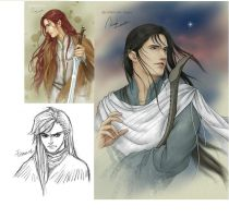 Feanor, Maedhros and Maglor by Artemis1989