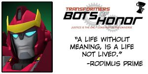 MUGSHOT - RODIMUS PRIME by Bots-of-Honor