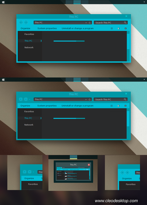 ADL Blue Dark Theme Windows 8.1 by cu88