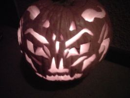 Demon Jack o Lantern 2011 by AluminumSunset