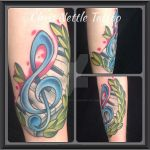 Treble Clef and Wreath Tattoo by ChrisNettleTattoo