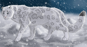 Snow leopard by Speck--Of--Dust