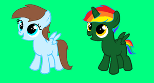Controller X Rainbow foals for Zeldafand by WolfFlameAndHeather