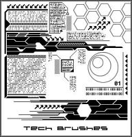 Tech Brushes by Icarus89