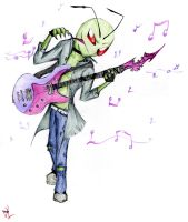 Rock Star Zim by CreateXDestroy