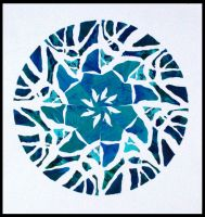 Radial Design in blue by aoiyoru