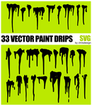 33 Vector Paint drips by Chrisdesign