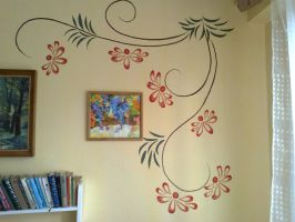 Tendril wall painting 2 by Dia-Yama073