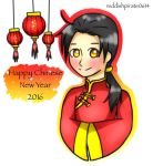 Happy Chinese New Year 2016 by reddishpirate0614