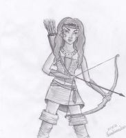 Artemis, the hunting goddess by SecretAgent008