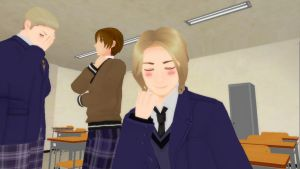 Even at school by Pamndora-MMD
