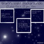 Starry Night Backgrounds Set by risingheart