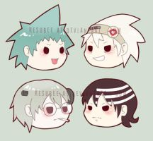 soul eater magnets by resubee