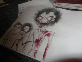 Tim Burton Isp. Jeff The Killer (WIP) by kathXD123