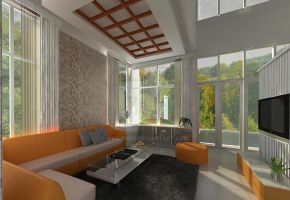 Green Cove BSD interior_living room 02 by vaD-Endz