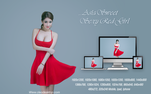 Asia Sweet Sexy Red Girl by cu88