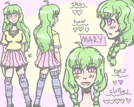 REF SHEET Mary OC by cheaterprintpanther