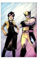 Logan and Jubilee by wordmongerer