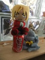 FMA-Ed and Al and the soda by AnimeEmm