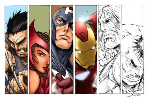 The Avengers Alvin Lee WIP4 by SpicerColor