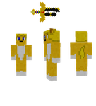 Goldstar Minecraft Skin WIP (Plus sword) by CryThunder