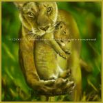 Taking Care - painting by Lynne-Abley-Burton