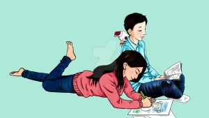 Brother and sister color by digikolobong