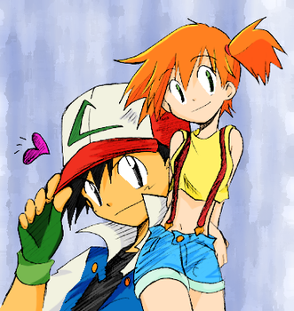 Ash and Misty by MoonFaerie24