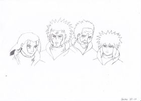 The 4 Hokages by cbluv