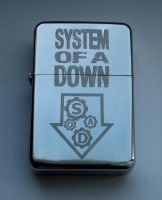 SYSTEM OF A DOWN - engraved lighter by Piciuu