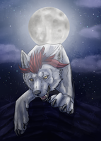 Run wolf sister by Liraelwolf