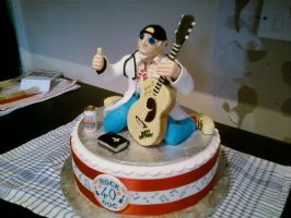 40th Doc Cake by chefkemp