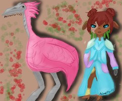 Asuran and Pink Moa by AnimalPlant12