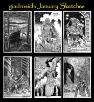 January Sketches by giadrosich