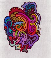 Sharpie Doodle Collaboration 3 by graffitica