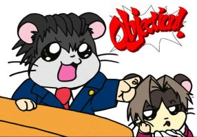 Phoenix Wright:HamHam Attorney by ThatWildMary