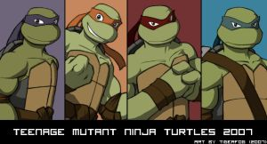 TMNT 2007 movie version by Tigerfog