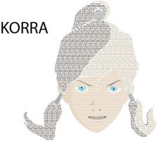 KORRA Typed Face - Request by mca2008