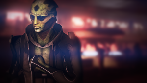 Fighting Illness (Mass Effect 3 Thane) by toxioneer