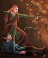 Kili and Tauriel by lilis-gallery